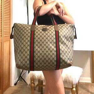 Authentic Gucci brown monogram XL tote/travel bag